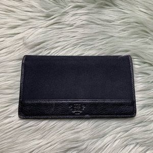 Bosch Black Canvas and Leather Checkbook